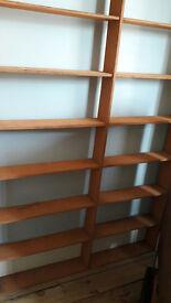 Large Orange Wooden Shelf