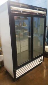 TRUE DOUBLE DOOR GLASS FREEZER ( BRAND NEW COMPRESSOR )
