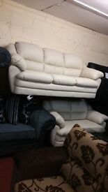 ITALIAN SOFA PORTOBELLA 3+2 IN BONDED LEATHER BRAND NEW PACKED CLEARANCE STOCK £599 A SET RRP £2000