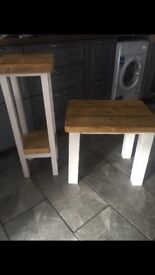 Solid wood side & lamp table
