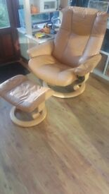 Ecornes Stressless chair and stool