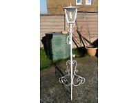 Long white standing lantern light
