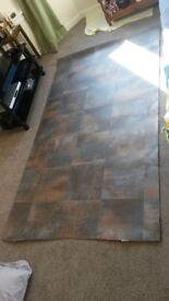 Unused like new roll of linoleum flooring