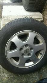 Vauxhall alloy wheels with good tyres