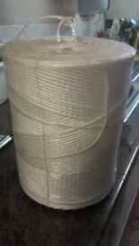 GIANT ROLL of WHITE NYLON THICK STRING/CORD Roll size 30cm high x 20cm diam