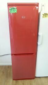 SWAN FROST FREE FRIDGE FREEZER IN RED