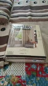 """2 pair curtains Appox90""""×90"""" with 2 matching cushions"""
