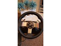 Logitech G27 racing wheel, PS3, 2 controllers and 18 games.