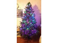 7ft easily assembled Luxury Christmas tree in good condition.