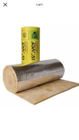 Isover Glasswool Insulation Blanket 40mm thick Duct Roll Lagging 14m2 long 1.2m