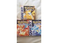 Gameboy Pokemon red yellow and blue all boxed and complete *will post*