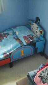 Thomas tank, bed, comes with mattress and all bedding, like new