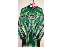 wulfsport race shirt motocross motox quad enduro green adult size small