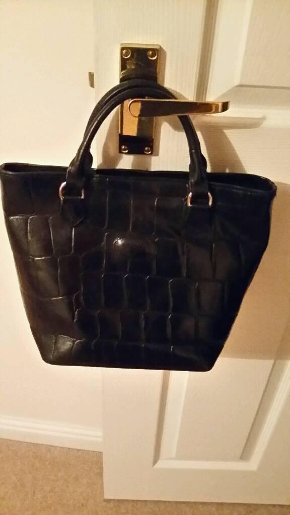 9d8821e10be3 ... leather shoulder shopper tote handle england 83176 38d5f  wholesale  vintage authentic mulberry black congo hellier grab bag 8a3bb 361eb