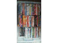 box full of dvd's 4 blueray.