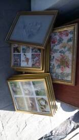 Large amount of picture frames