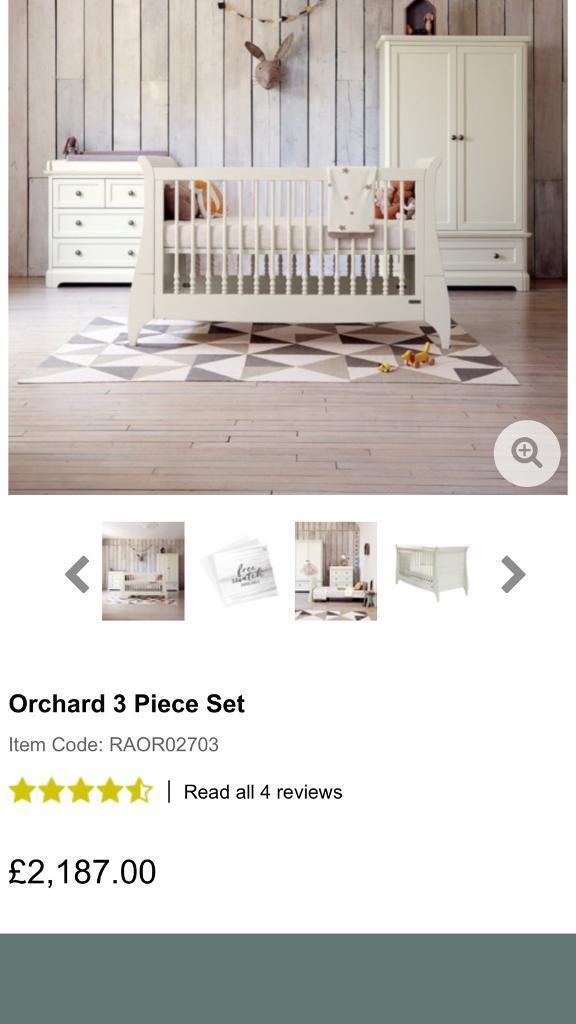 Mamas & Papas Orchard Furniture Set Cotbed Wardrobe Changer