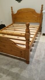 massive Wooden Double Bed - free delivery