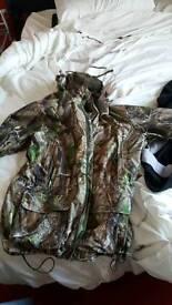 Large men's full length hunting coat