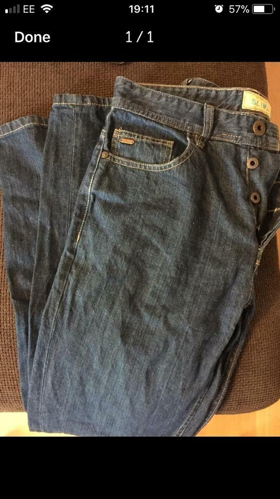 Next Slim Fit Jeans 30/32 smoke free home millbrook oos