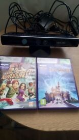 Kinnect for Xbox 360 plus 2games