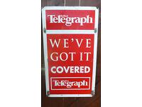 BELFAST TELEGRAGH VINTAGE BIG SIGN RARE