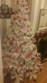 7ft bushy white Christmas tree