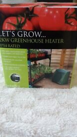 NEW GREENHOUSE HEATER, BOTANICO 2KW. THERMOSTATICALLY CONTROLLED