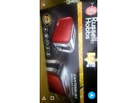 Red russell hobbs toaster