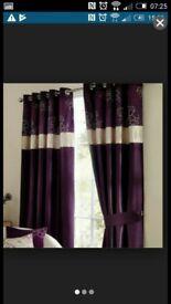 Dunelm Curtain size 60 x 90 drop purple