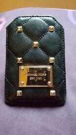 Michael Kors Leather Studded Phone Case.