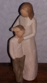 Willow tree. mother and son.perfect condition 8inch