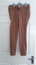 New Look Size 10 Brown skinny trousers