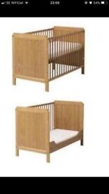 IKEA Baby Toddler Cot Bed with mattress