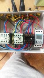 Eletric box with hager timer