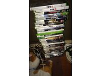 X box 360 with 32 games