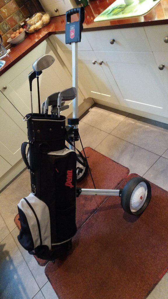 LettsGolf A91, full size, right handed golf set, with bag and trolley.