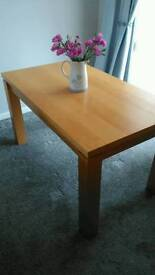 Beech Dining Room Table (no chairs) £20