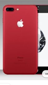 Iphone 7plus red 256gb brand new in box