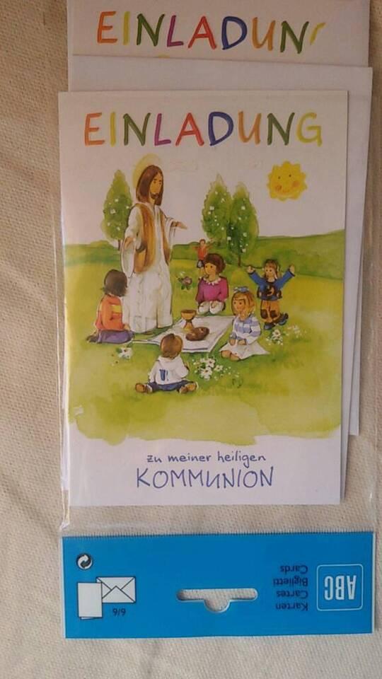 Einladungskarten Kommunion Einladungskarten 2 Stück neu in Biblis
