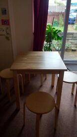 Small dining table with chairs for sale