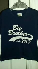 2 'Brother' t shirts aged 2-3
