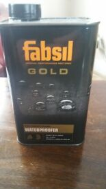 Fabsil Gold water proofer 1 litre never opened