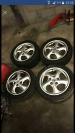 """17"""" Porsche Boxster alloys - Staggered set up"""