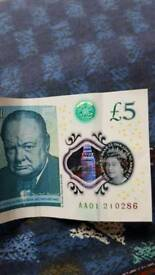 AA01 £5 note