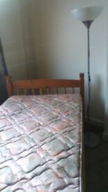 SINGLE BED WITH NEW MATTRESS