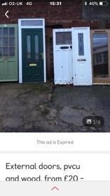 External doors in excellent condition from £25.00