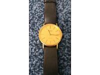 Tissot quartz gold plated watch