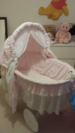 Large Crib With Drapes