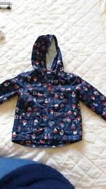 Fleece lined waterproof coat 18-24months